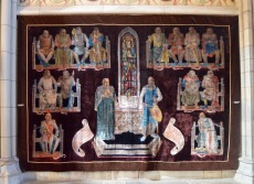 beautiful tapestry in the Uppsala cathedral