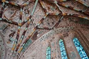 Härkeberga Kyrka: beautiful medieval painted church ceiling