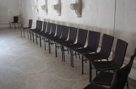 empty chairs for mourners