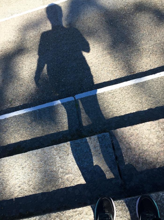 my shadow runs ahead of me