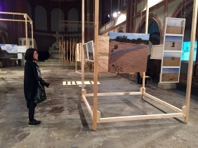 art show about african land art in renovated former church space