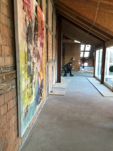 Vacancy pop art exhibit in an old hotel to be rennovated