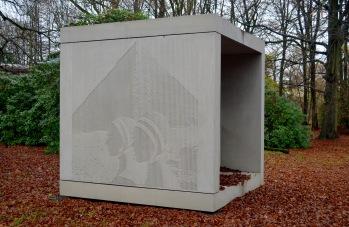 an beautiful new mausoleum for the famous photographer- F.C Gundlach