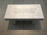 jenny holzer - saw this work at the art institute of chicago in 2010 and someone in my art history class almost sat on it