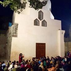Story telling at renovated Sharaj Al Durr Mausoleum